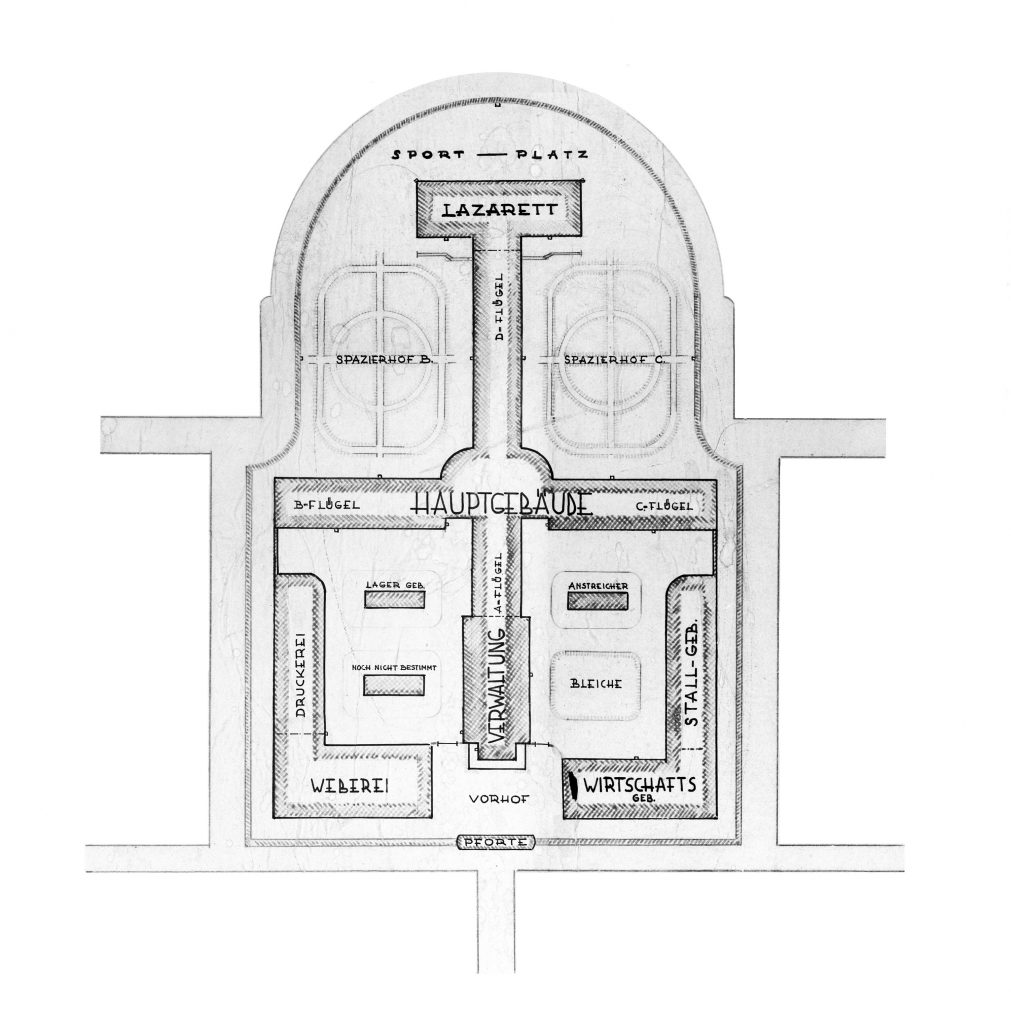 Plan Zentralgefängnis Diez 1912